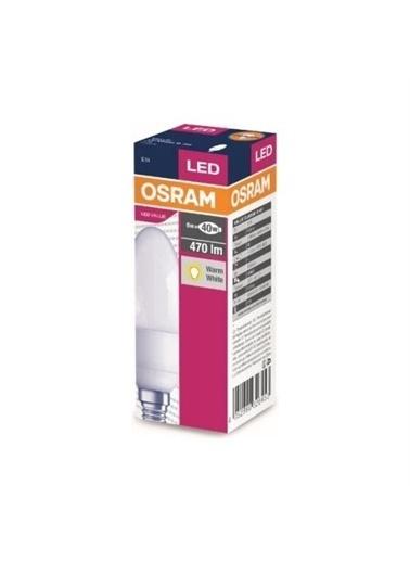 Osram 5.7 Watt 470 Lumen Sarı Işık Mum Buji E-14 Duy Led Ampul Renksiz
